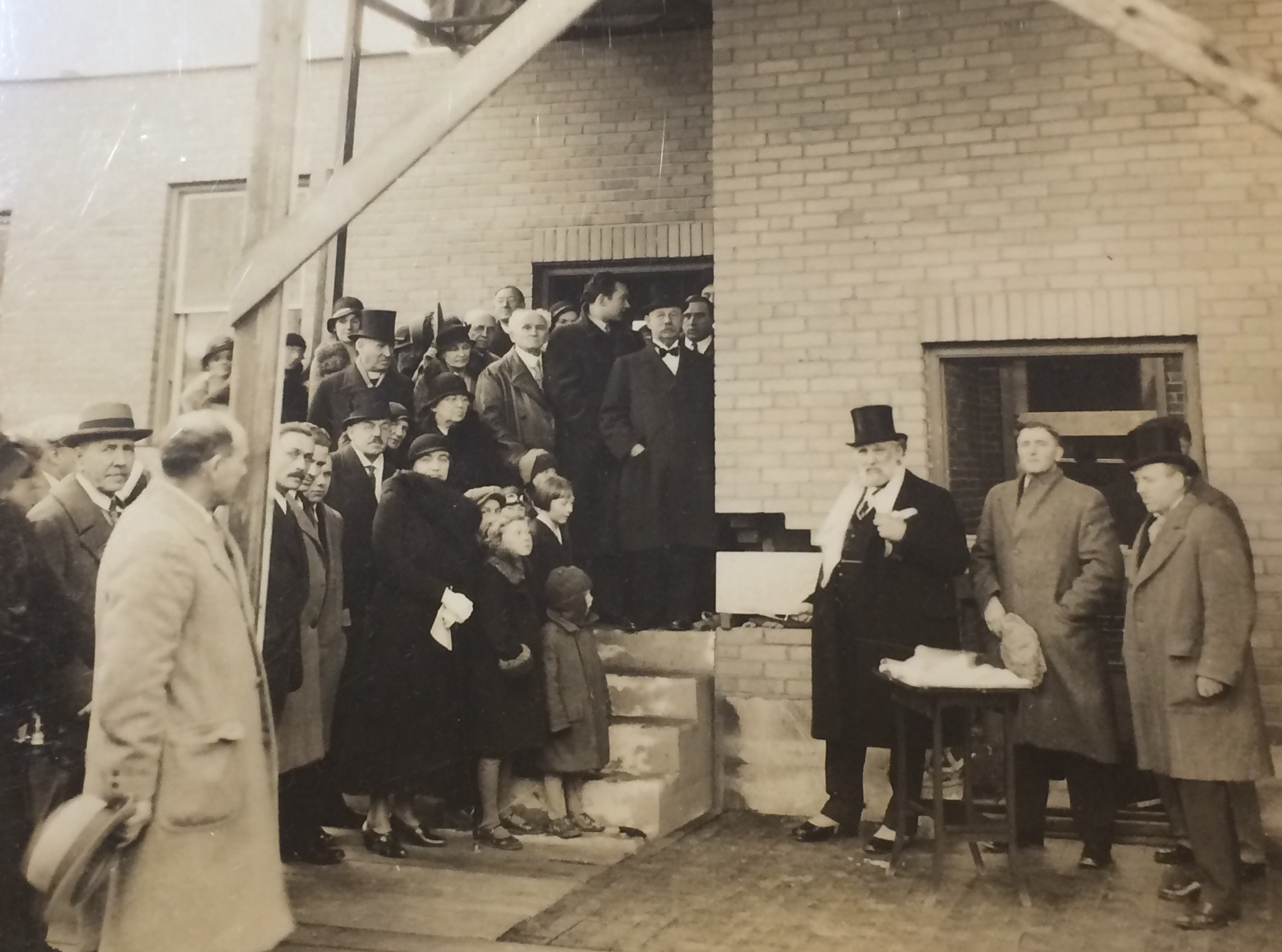 Bull at the opening of a new wing at Peel Memorial 1932