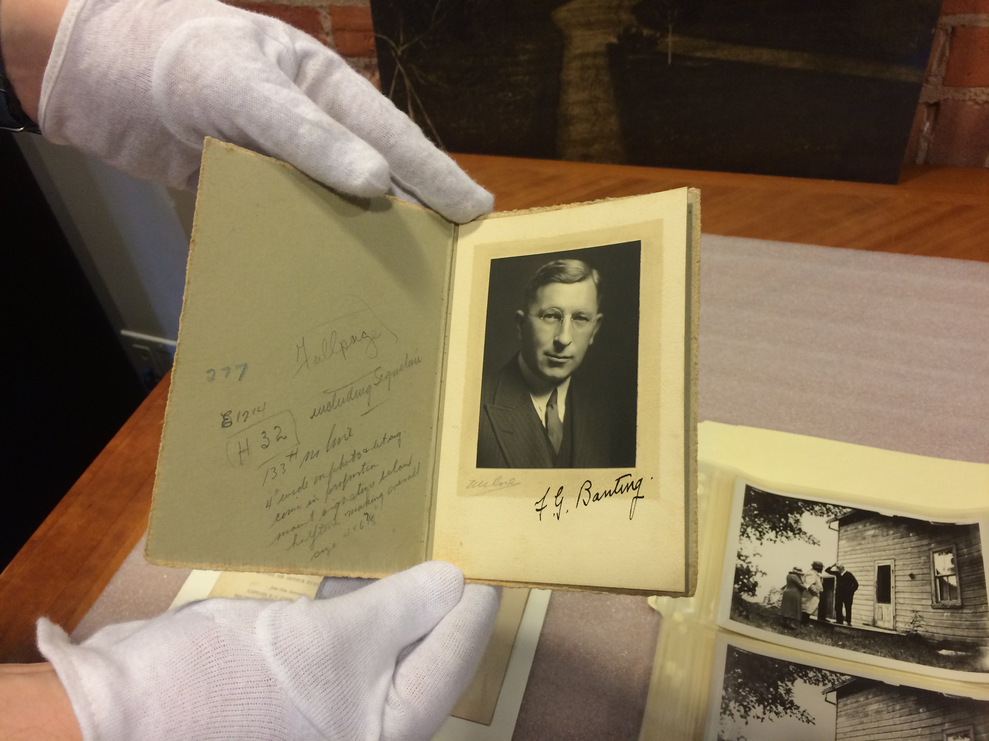 Signed image of Frederick Banting to his friend Bull