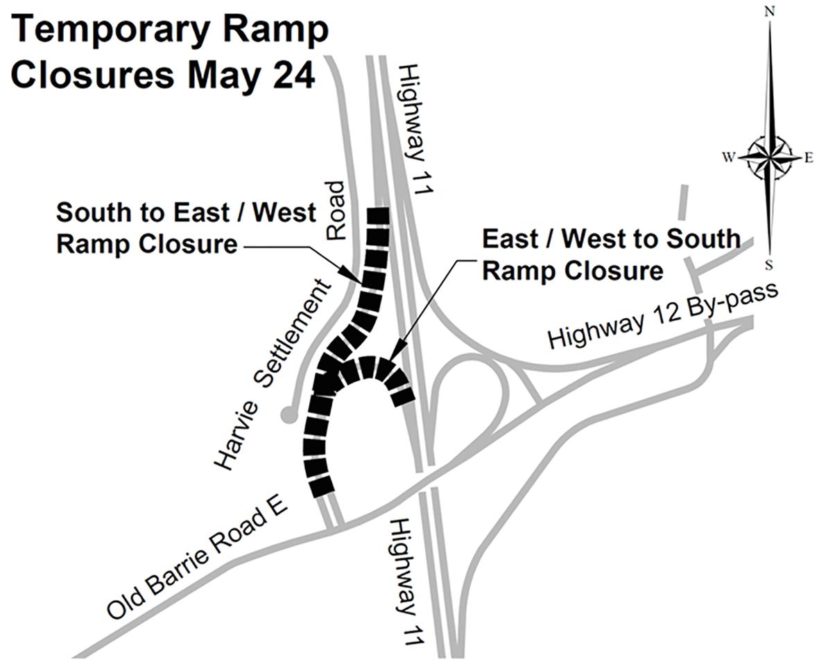 Key Map Temporary Closure May 24