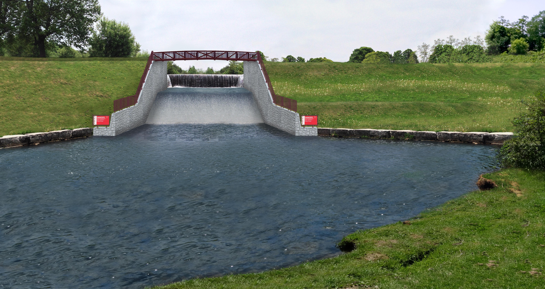 Millbrook Dam Spillway Rendering