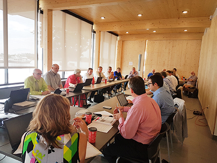 Orillia Council and senior staff discuss corporate priorities at the Orillia Waterfront Centre at a special meeting of Council Committee on July 19, 2017.