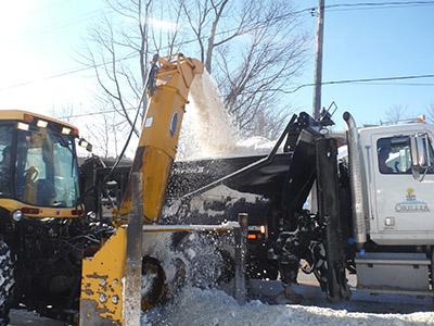 Snow hauling