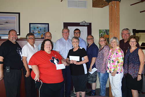 Mayor Steve Clarke, Coun. Ralph Cipolla and Coun. Pat Hehn presented the second installment of the City of Orillia 2017 general grants program to local organizations on July 18, 2017.