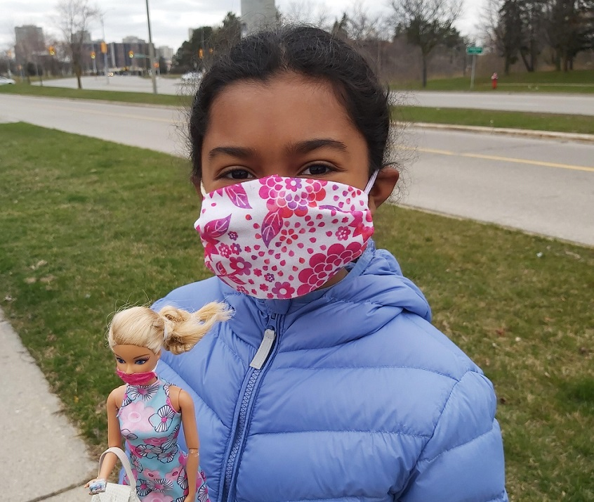 Peel Time Capsule submission - girl with mask with her Barbie with a mask