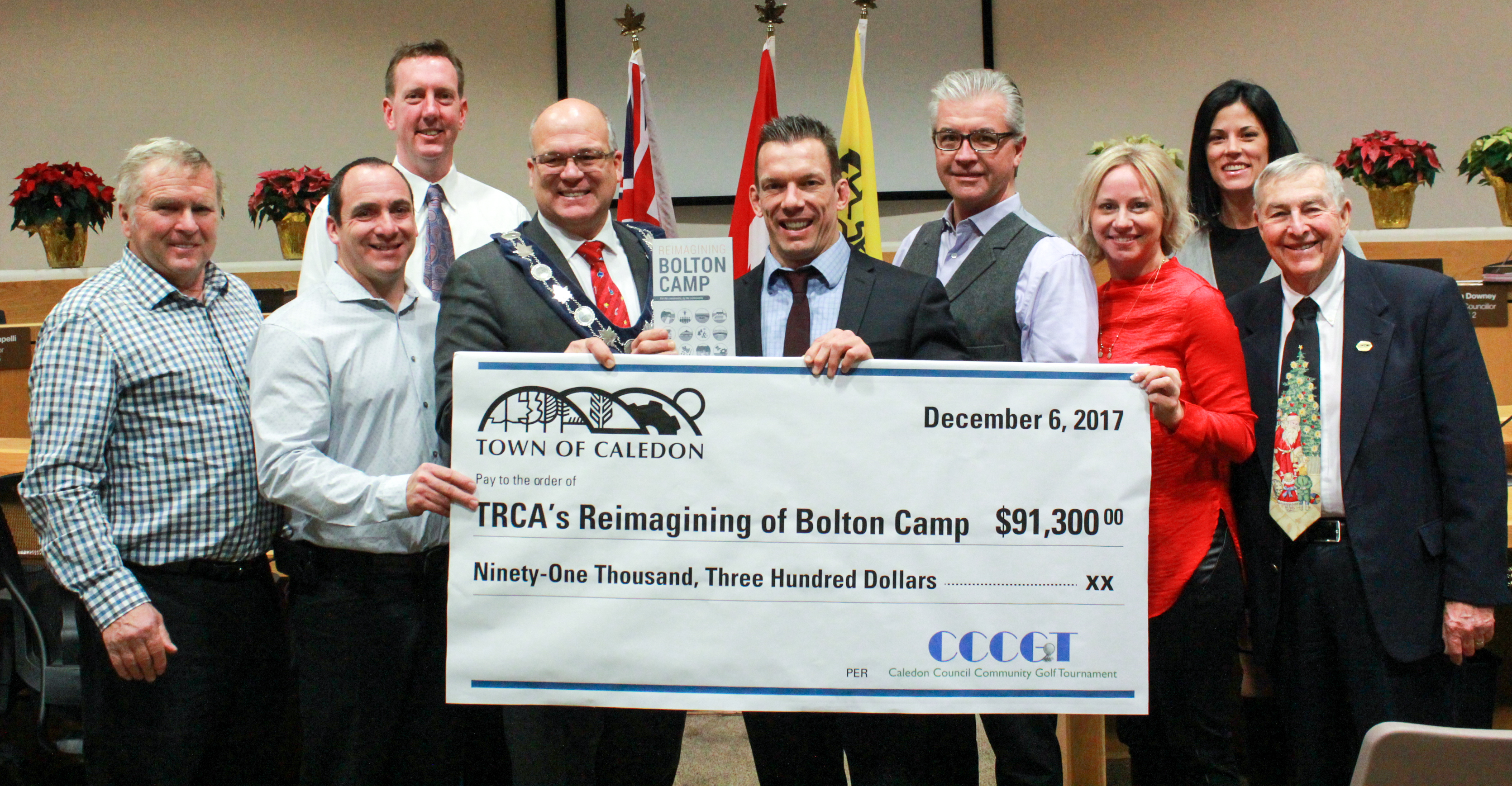 Cheque presentation (December 6, 2017)