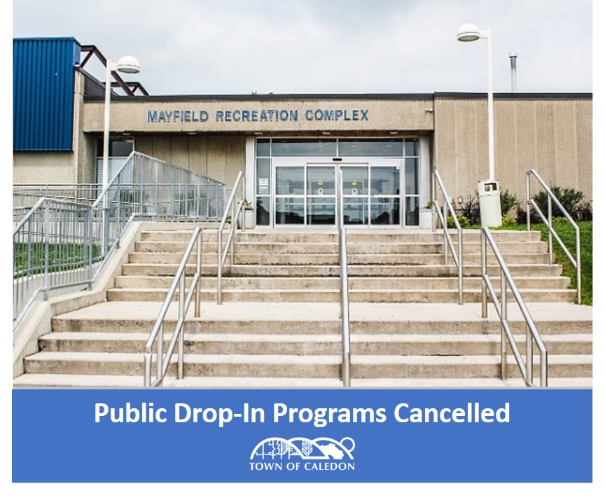 Drop In Programs Cancelled
