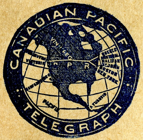 CPR Telegraph logo, ca. 1910 - Messages and Media Exhibit