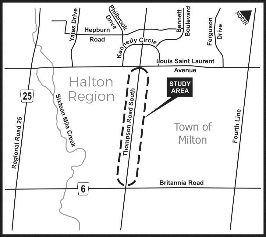 Thompson Road Study Area
