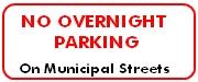 no overnight parking