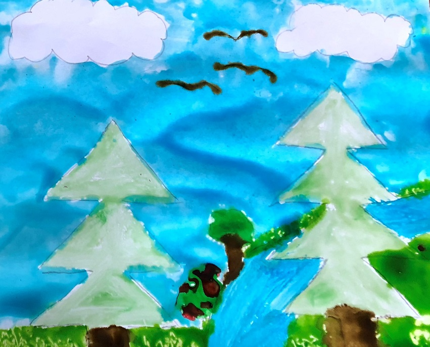 Corn Syrup Painting Activity