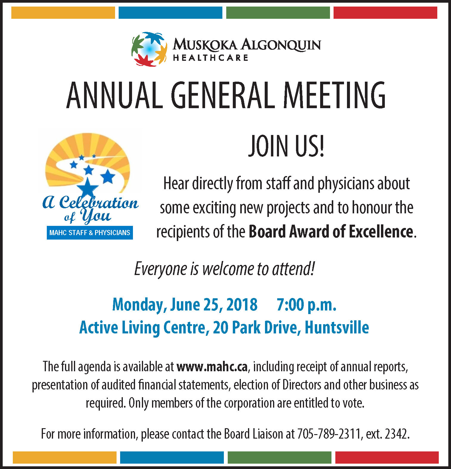 Public Notice - MAHC Annual General Meeting