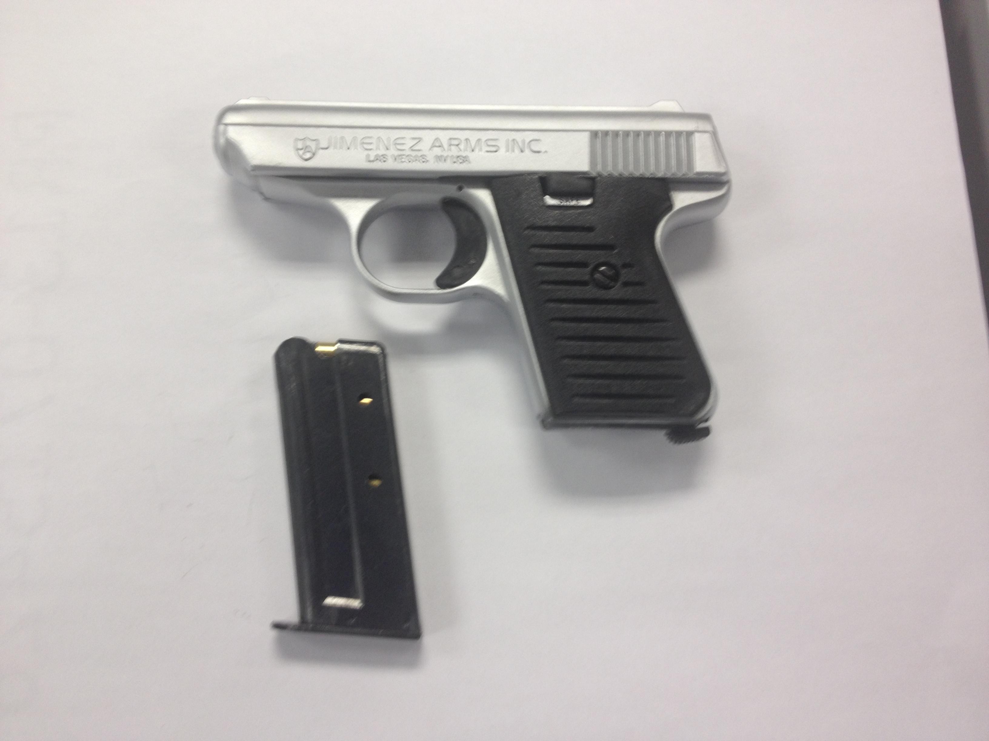 The seized firearm