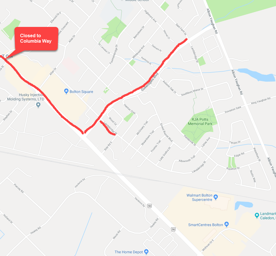 Bolton Santa Clause Parade Closures_2018
