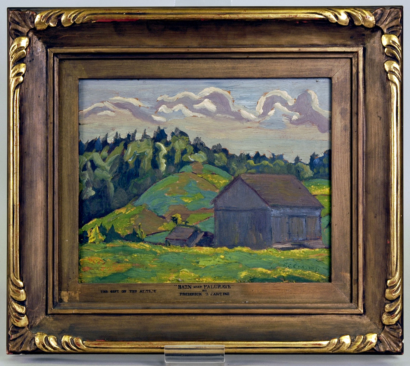 PAMA Museum - Barn Near Palgrave by Frederick G. Banting - co-creator of Insulin and artist