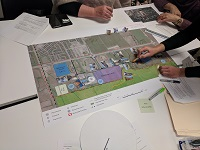 Concept Designs for Milton Education Village on Site Map