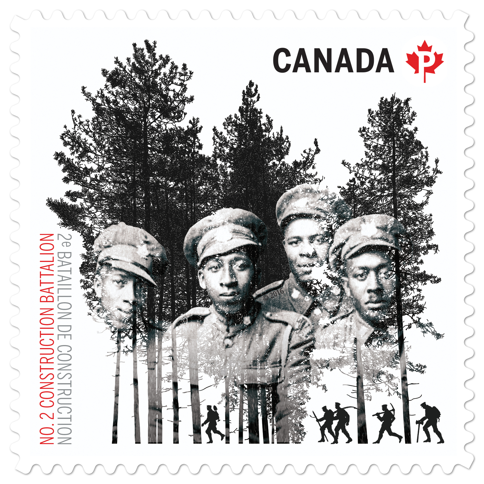 No. 2 Construction Battalion Stamp