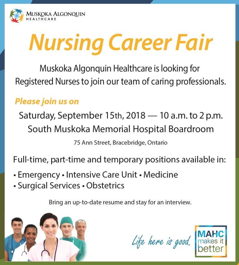 MAHC to Host Nursing Career Fair in September