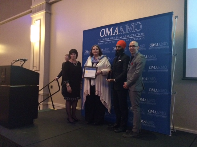 Award presentation to Annemarie Hagan and Gurratan Singh