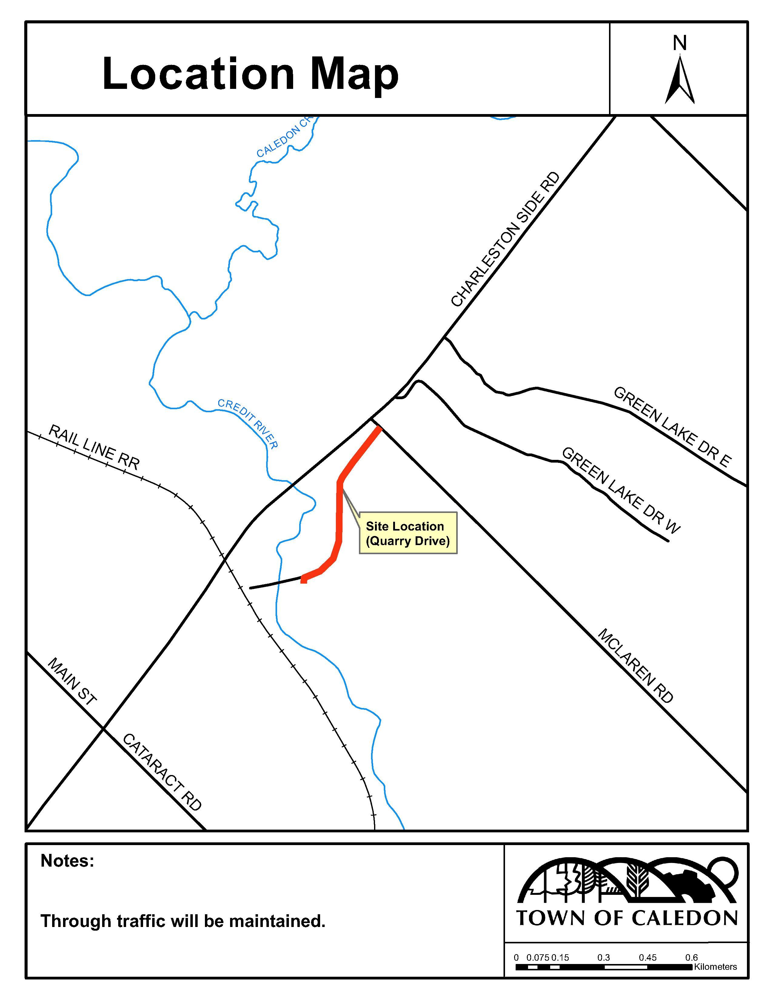 Quarry Drive Rehabilitation Map