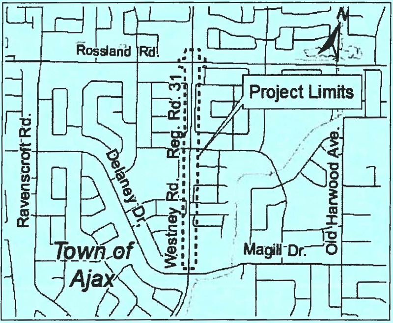 Westney Road Reconstruction/Noise Fence Installation Town of Ajax