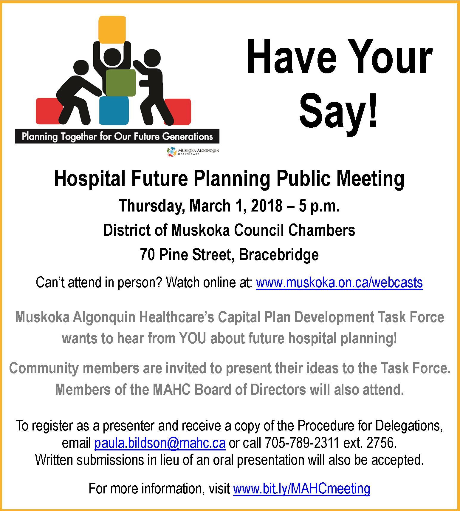 Public Notice of March 1 Public Meeting