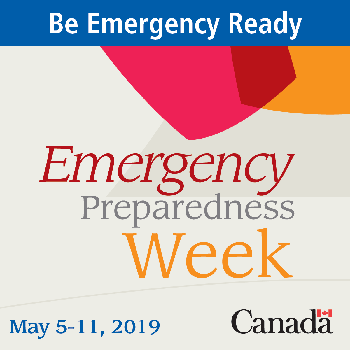 Emergency Preparedness Week 2019