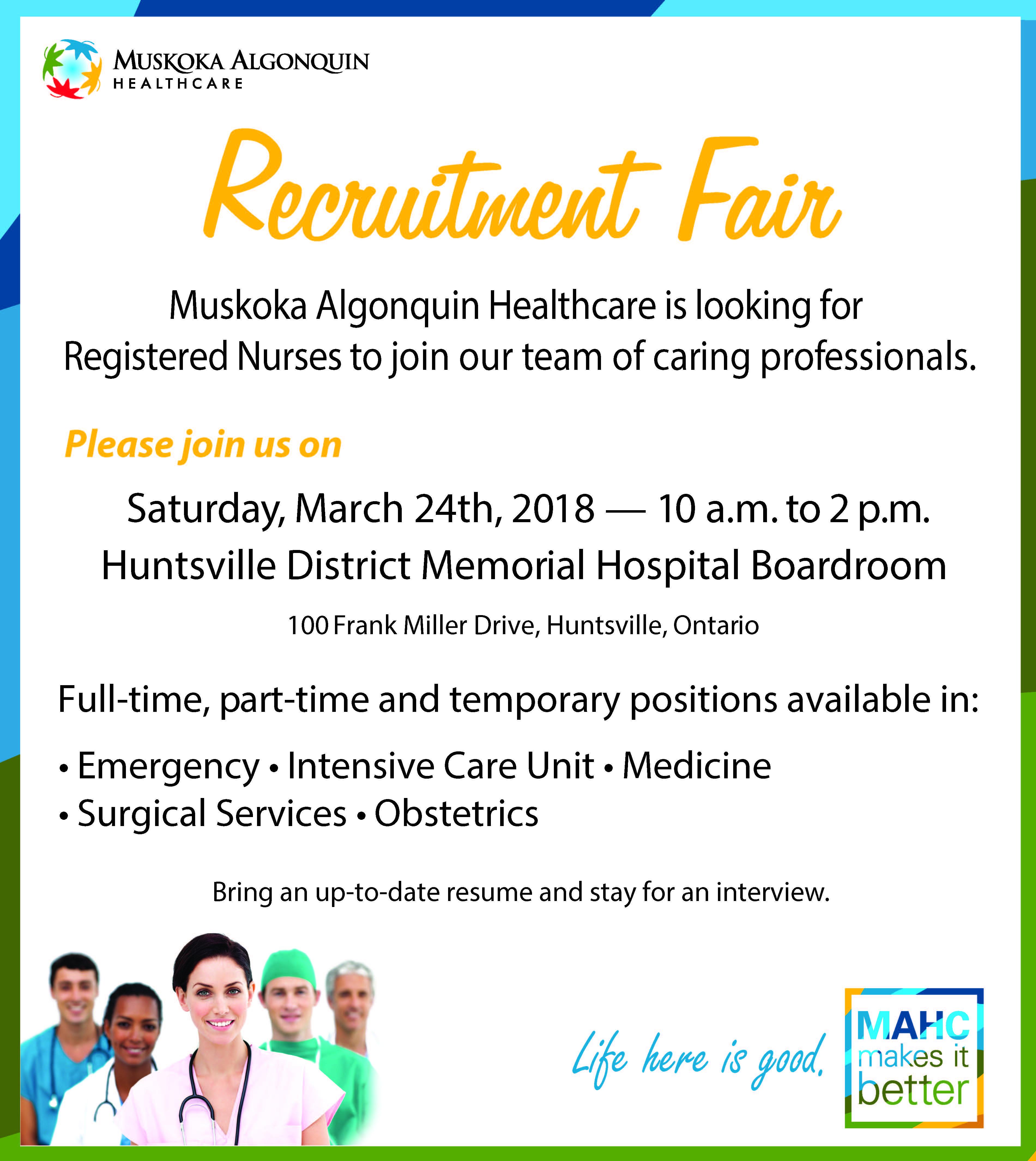 2018 Recruitment Fair Advert