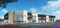 Rendering of Fire Station 1