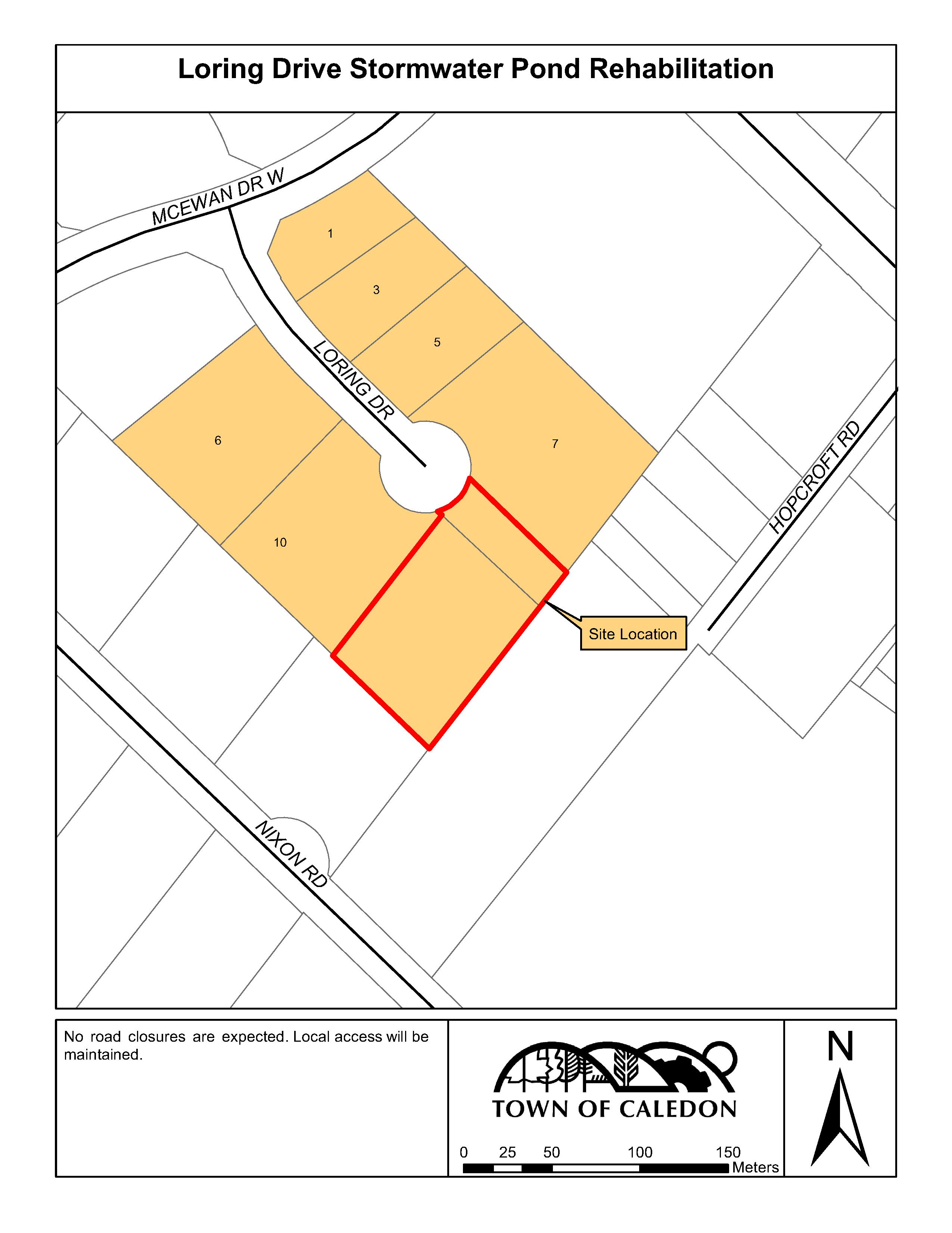 Loring Drive Stormwater Pond Site Map