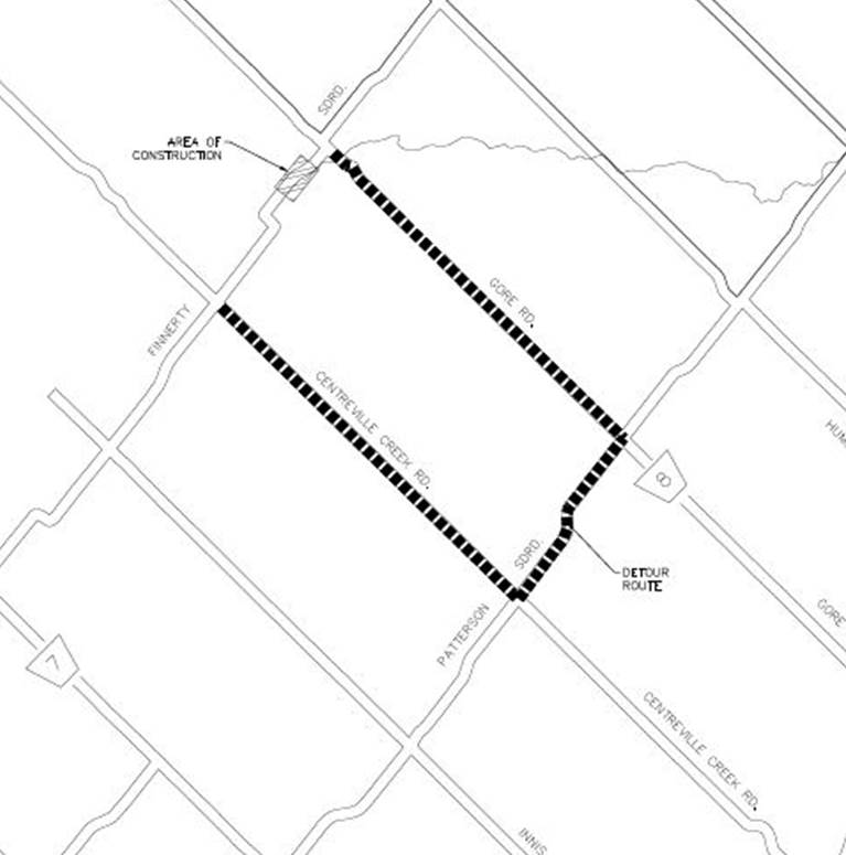 Finnerty Side Road Closure