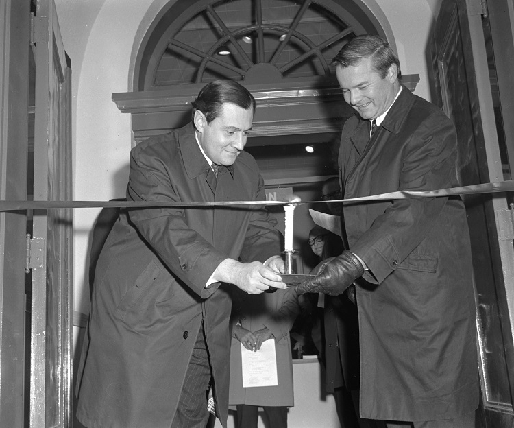 Bill Davis and Tom Symons at the 1968 Opening