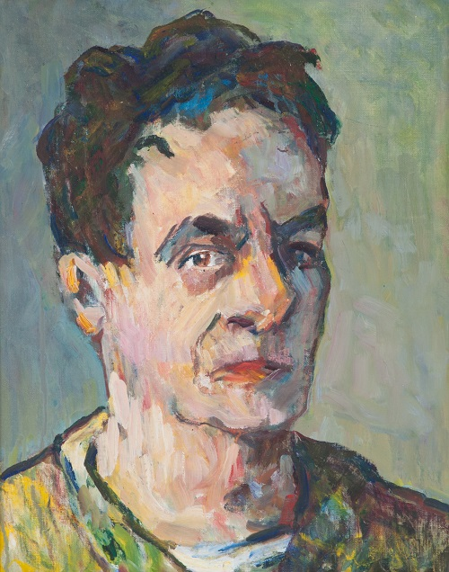 George Paginton, Canadian (1901- 1988)  Self portrait, c. 1974  Oil on canvas board  50.75 x 40.5 cm  Collection of Tony Paginton and Roswita Busskamp  ©Tony Paginton and Roswita Busskamp, 2018.