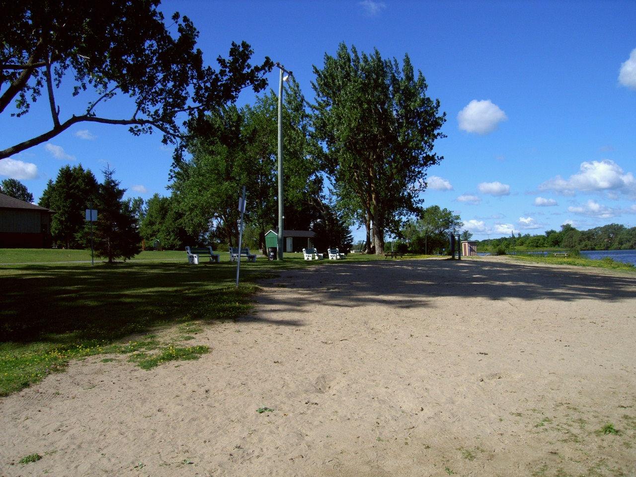 Island park beach