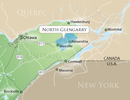 Map of North Glengarry - Close Up View